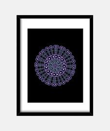 mandala viola e blu