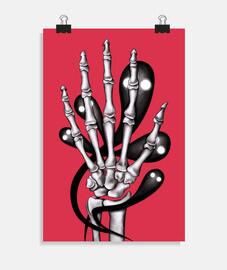 mano de hueso con fantasmas