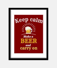 mantener la calma foto de la cerveza