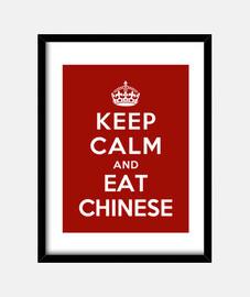 mantener la calma y comer comida china