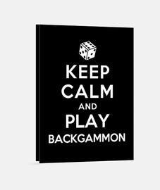 mantener la calma y el juego de backgammon