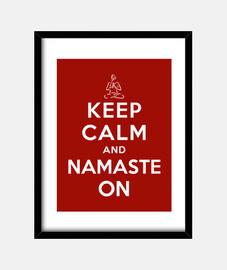mantener la calma y el namaste