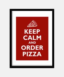 mantener la calma y el orden de pizza