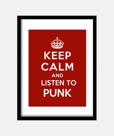 mantener la calma y escuchar al punk