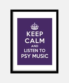 mantener la calma y escuchar música psy