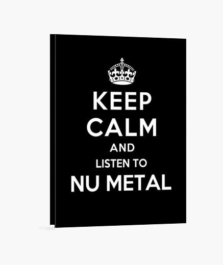 Lienzo mantener la calma y escuchar nu metal