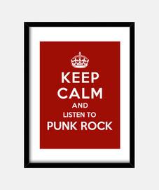 mantener la calma y escuchar punk rock