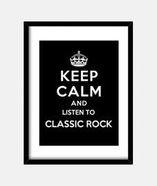 mantener la calma y escuchar rock clásico