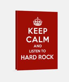 mantener la calma y escuchar rock duro