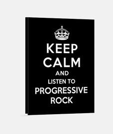 mantener la calma y escuchar rock progresivo