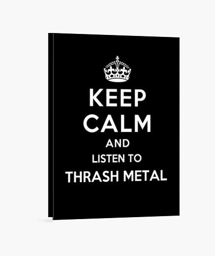 Lienzo mantener la calma y escuchar thrash metal