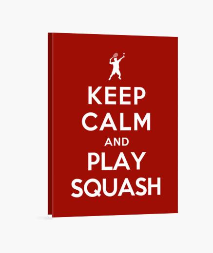 Lienzo mantener la calma y jugar al squash