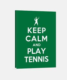 mantener la calma y jugar al tenis