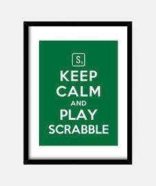mantener la calma y jugar scrabble