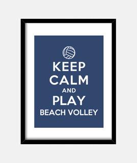 mantener la calma y jugar voleibol de playa