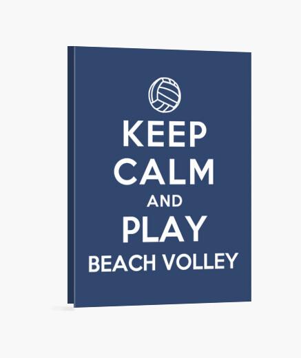Lienzo mantener la calma y jugar voleibol de playa