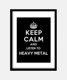 mantenere la calma e ascoltare heavy metal