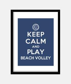 mantenere la calma e giocare a beach volley