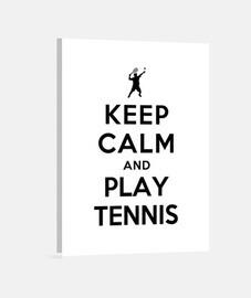 mantenere la calma e giocare a tennis