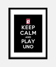 mantenere la calma e giocare uno