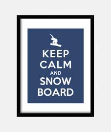 mantenere la calma e snowboard