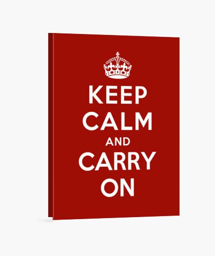 Lienzo mantenga la calma y continúe