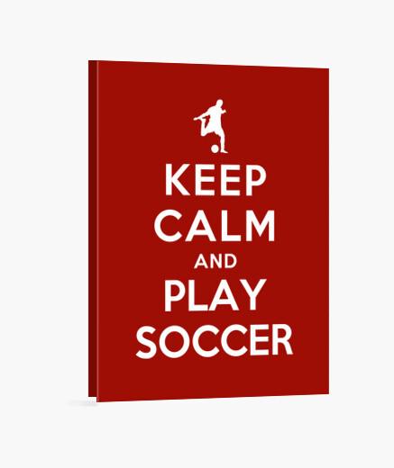 Lienzo mantenga la calma y juegue futbol