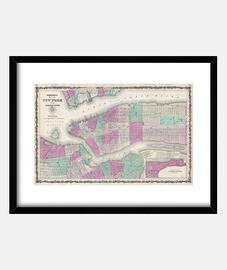 Mapa de Nueva York, año 1868