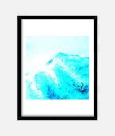 MAR AZUL OLA Cuadro con marco vertical 3:4 (30 x 40 cm)