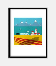 Mar i muntanya cuadro vertical
