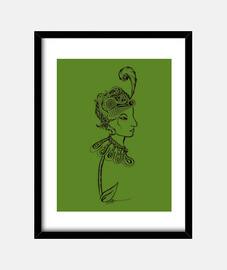 marco de flores de dama