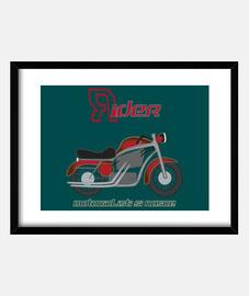 marco rojo de la motocicleta