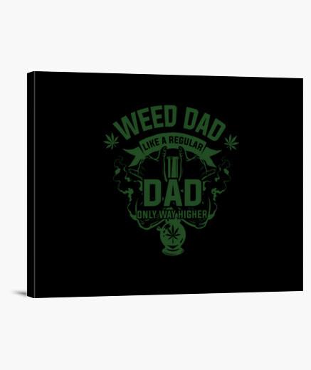 Lienzo marihuana papá como de costumbre