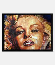 Marilyn Monroe oleo pintura