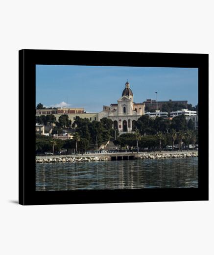 Stampa su tela Marina di Bonaria Cagliari