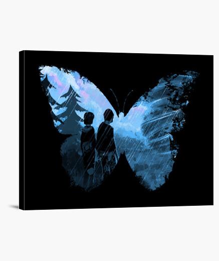 Lienzo mariposa azul