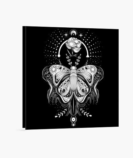 Lienzo Mariposa tribal tatuaje - dark tee
