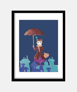 Mary Poppins  Cuadro con marco vertical 3:4 (30 x 40 cm)