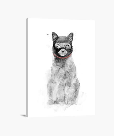 Masked cat canvas