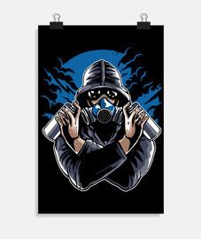 masque à gaz graffiti