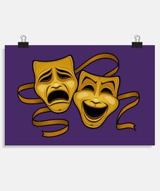masques de théâtre comédie et tragédie