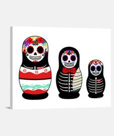 Matrioskas Día de los muertos