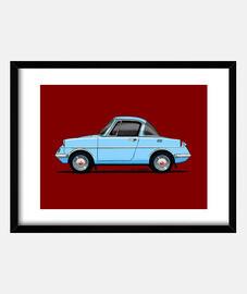 Mazda R360 Coupe azul claro