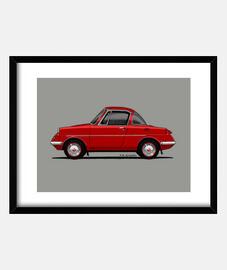 Mazda R360 Coupe rojo