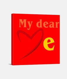 MD love me textes oranges (Dessin 8000
