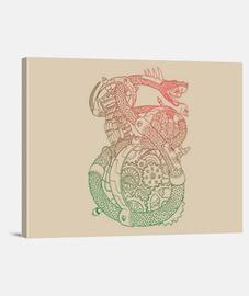 mech-snake canvas