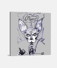 Meow - Lienzo Cuadrado 1:1 - (40 x 40 cm)