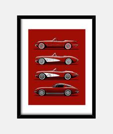 Mi dibujo de los Corvette clásicos