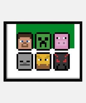 Minecraft Faces (INFANTIL)