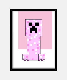 Minecraft PINK Creeper (NIÑA)